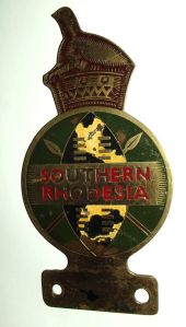 Southern Rhodesia Metal Car Bumper Badge