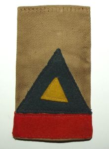 WW2 South African 6 Armoured Division Slip On Shoulder Badge