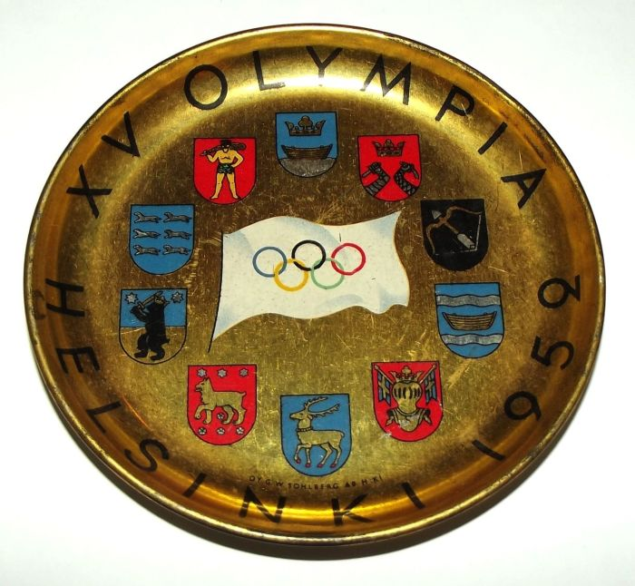 1952 Helsinki Olympic Games Metal Ashtray