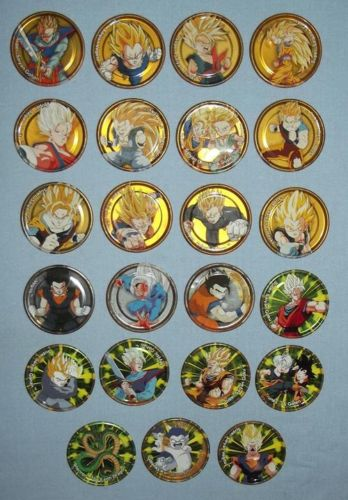 23 South African Dragonball Z Metal Tazo Pogs