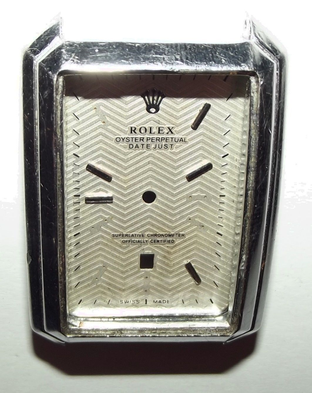 Watch wrist parts -  Rolex Oyster Perpetual Date Just Wrist Watch Face And Case For Parts