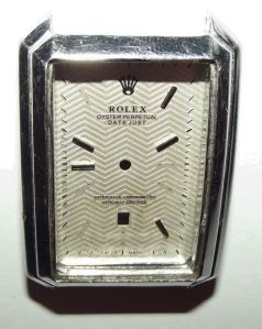 ROLEX Oyster Perpetual Date Just Wrist Watch Face and Case for Parts