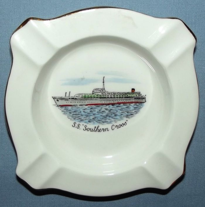 Shaw, Savill & Albion Shipping Line SS Southern Cross Ashtray