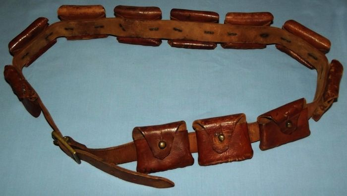 South African Boer War Mauser 11 Pocket Leather Bandolier