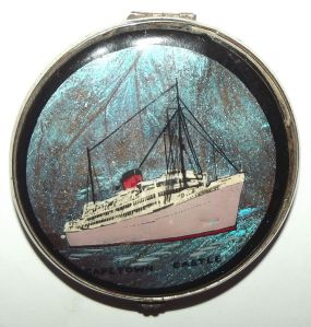 Union Castle Shipping Line Capetown Castle Powder Compact