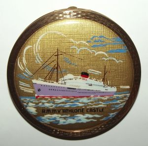 Union Castle Shipping Line RMMV Athlone Castle Stratton Powder Compact