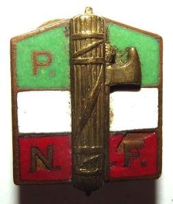 Italian Fascist Party Metal Buttonhole Badge