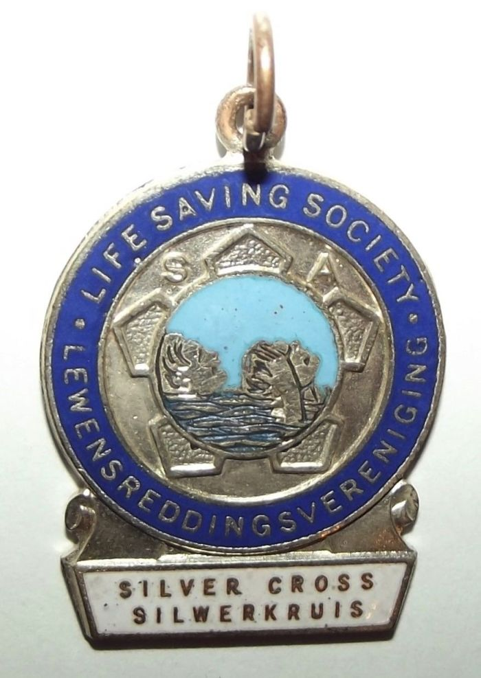 South African Life Saving Society Silver Cross Medal