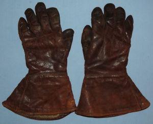 Vintage Slazenger Made in England Brown Leather Motorcycle Gloves