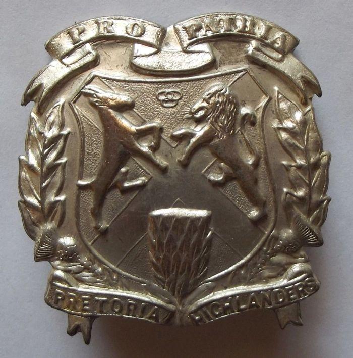1946 - 1948 South African Pretoria Highlanders Metal Tam-o-Shanter Badge