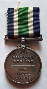 South African Police Faithful Service Full Size Medal 2