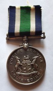 South African Police Faithful Service Full Size Medal