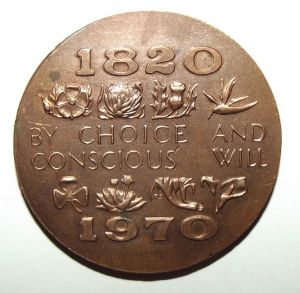 150th Anniversary of British Settlers in South Africa 1820-1970 Bronze Medal 2