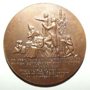 150th Anniversary of British Settlers in South Africa 1820-1970 Bronze Medal