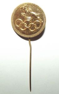 1960's South Africa NOC Springbok Olympic Pin Badge