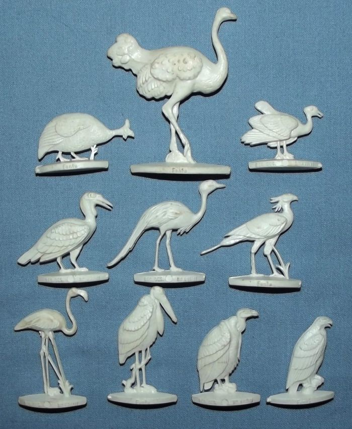 1960's South African Fanta Bird Figurines