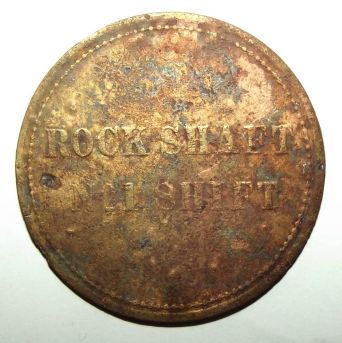 Circa 1880's Mine Compound Rock Shaft N 21 Shift Mining Labour Token 2