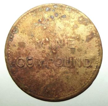 Circa 1880's Mine Compound Rock Shaft N 21 Shift Mining Labour Token