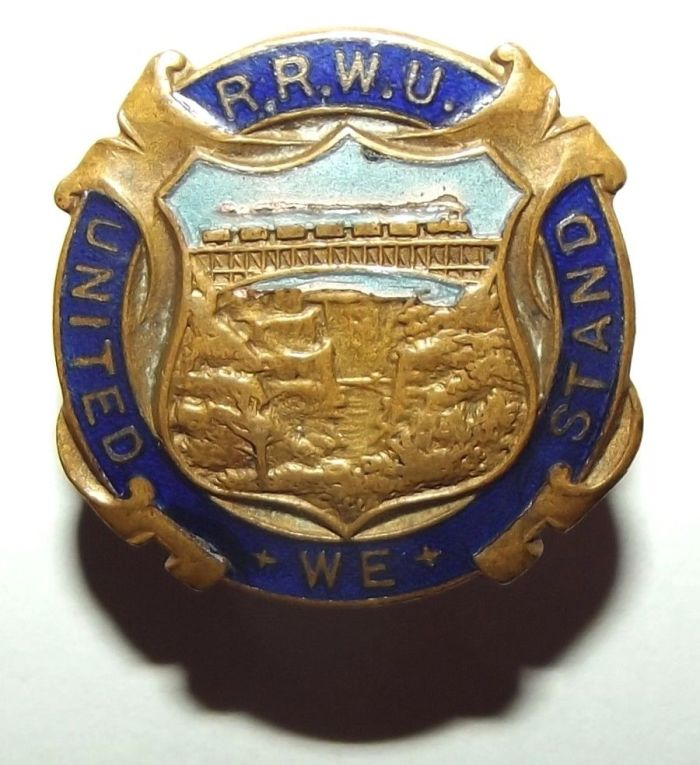 Rhodesia Railways Workers Union Metal Buttonhole Badge