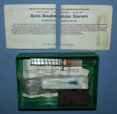 Vintage South African First Aid Snake Bite Outfit Bilingual Kit 2