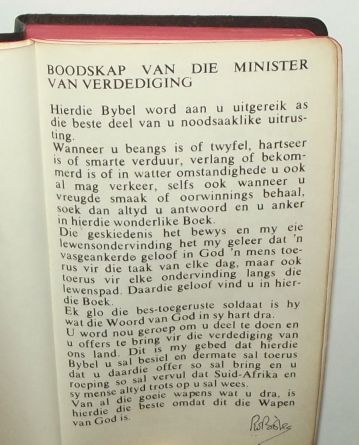 South Africa SADF Chaplain Service Afrikaans Language Pocket Bible 2