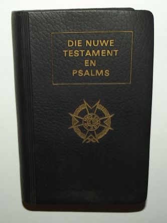 South Africa SADF Chaplain Service Afrikaans Language Pocket Bible