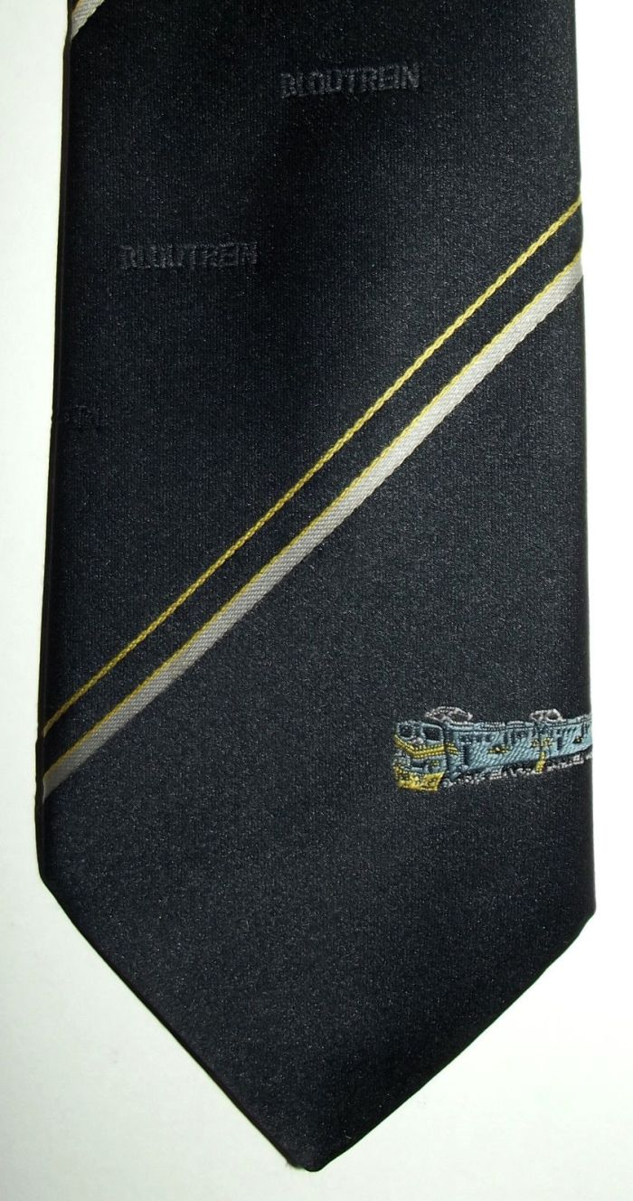 South African Railways Blue Train Insignia Tie
