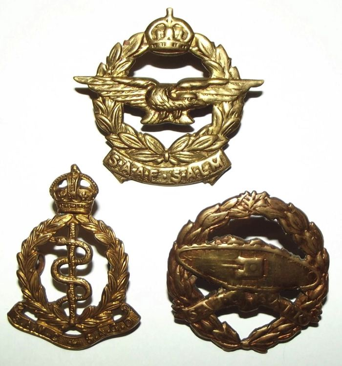 3 South Africa SADF Cap Badges