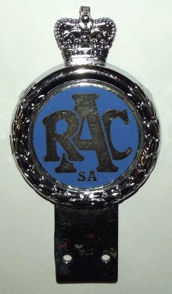 RAC Royal Automobile Club South Africa Metal Car Bumper Badge