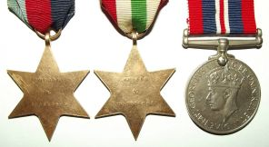 South Africa WW II Full Size Medal Trio Named to J. Rooskrans 2