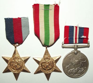 South Africa WW II Full Size Medal Trio Named to J. Rooskrans