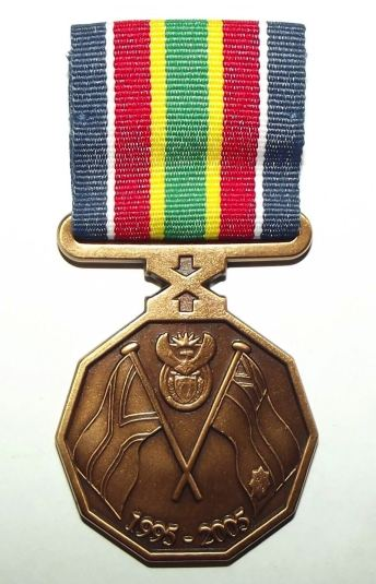 South African Police Service 10 Year Commemoration Full Size Medal