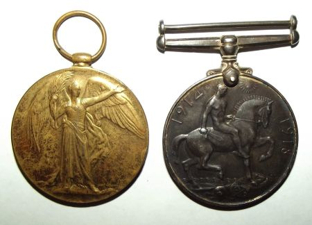 WW1 South African Bilingual Victory Medal Pair 2
