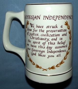 11 November 1965 Rhodesia Independence Ian Smith Beer Mug 2