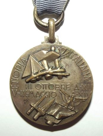 1935-36 Italian Fascist Ethiopia Colonial Medal 2