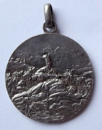 Italian Colonial VI Battalion Eritreo Officers Silver Medal 2