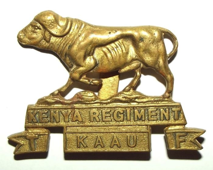 Kenya Regiment Territorial Force Brass Cap Badge
