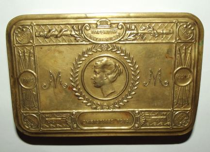 WW1 Christmas 1914 Princess Mary Brass Chocolate Tin 2