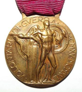 WW1 Italian Volunteers Medal 3