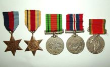 WW2 Group of 5 Full Size Medals to a South African Coloured Soldier
