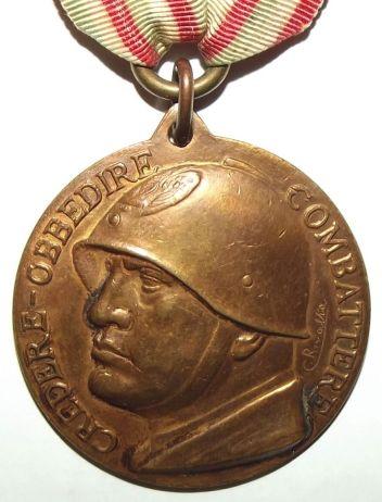 WW2 Italian Fascist Full Size Medal