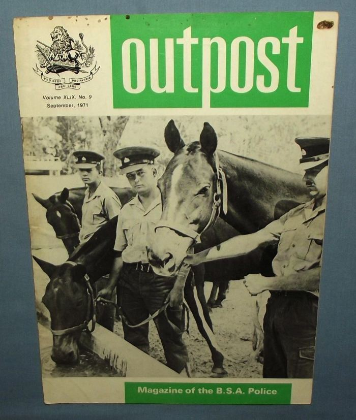 1971 Rhodesia BSAP British South Africa Police Outpost Magazine