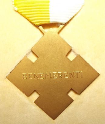 Catholic Benemerenti Medal Issued by the Pope 2