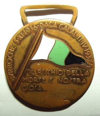 Italian Colonial 38th Battalion Arabo Somalo Medal 2