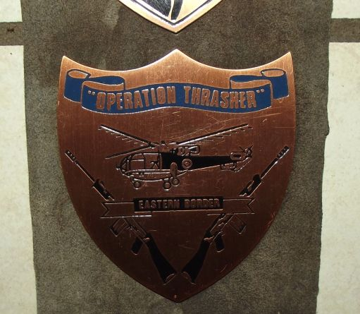 Rhodesia Border War Operations Copper Plaques on Leather Hanger 2