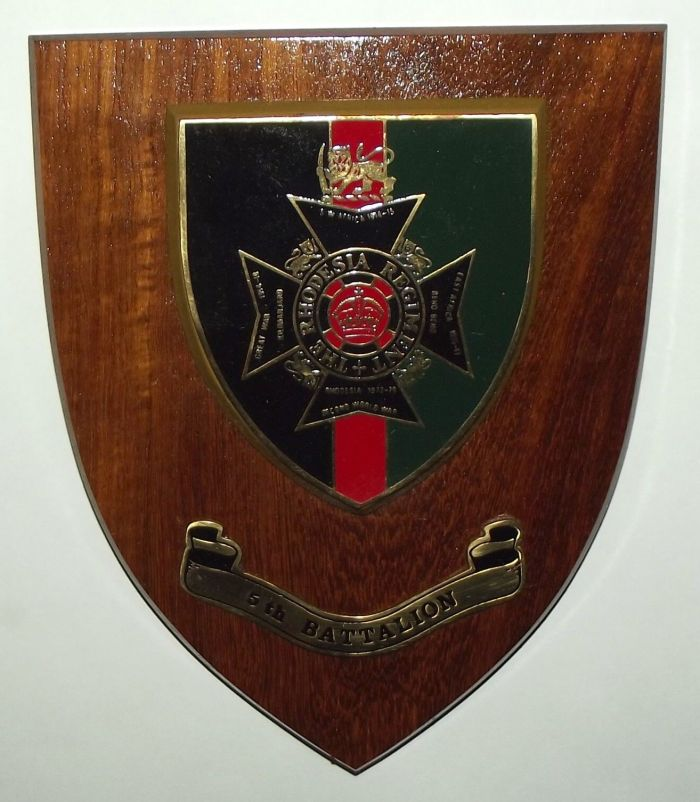 The Rhodesia Regiment 5th Battalion Wall Plaque