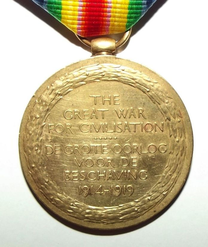 WW1 South African Bilingual Dutch Victory Medal